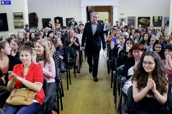 Мастер-класс народного артиста РФ Вениамина Смехова: 'Я пришел к вам со стихами'